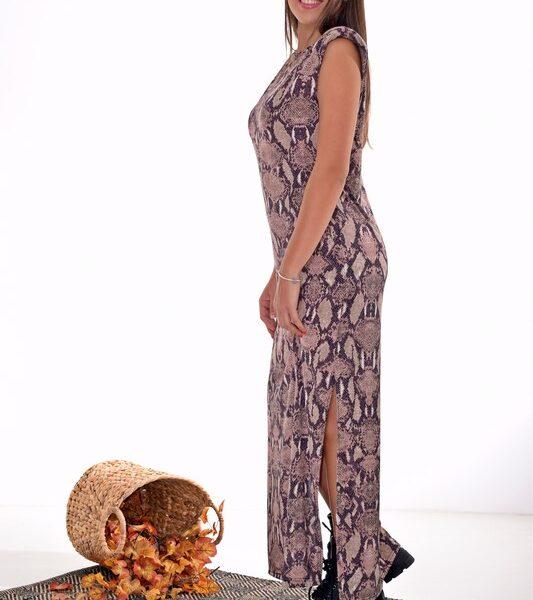 Γυναικείο Φόρεμα Maxi Snake Print 117-7618